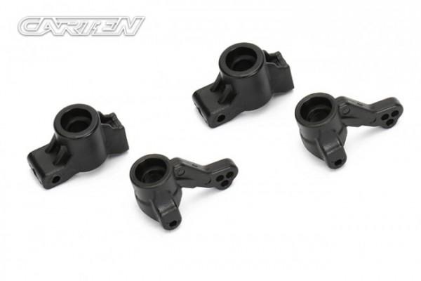 CARTEN M210 Steering blocks and rear hubs (2+2)
