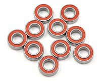 SWORKz High Performance Rubber Cover Ball Bearing 8x16x5mm (10pc) RED LINE